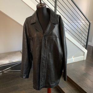 Mens Kenneth Cole New York leather black jacket Xl